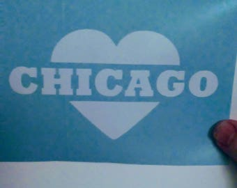 Chicago Decal Etsy - Custom vinyl stickers chicago