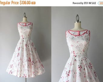 STOREWIDE SALE 1950s Dress / Vintage 50s Novelty Print Dress / Fifties Modernist Calderesque White Cotton Sundress