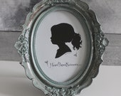 Farmhouse Decor Oval Frame Vintage French country cottage, small, Blue, Teal, Shabby Chic, Ornate Antique style, Entryway