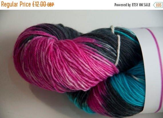 Christmas In July Hand-Dyed Yarn in Liquorice Allsort Colourway Sock Yarn Superwash Wool/Nylon Tootsie Base
