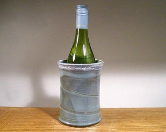 Stoneware Wine Chiller , Pottery Wine Chiller , Wine Chillers , Asparagus Keeper , Untensil Holder, by Jon Whitney Pottery