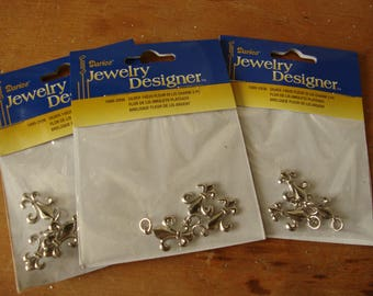 Fleur de lis charms silver french embellishments for jewelry crafting supplies louisianna