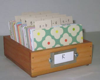Address Card File...Medium...Rolodex...Wedding Guest Book Alternative...Handcrafted...Organizer...Business Card