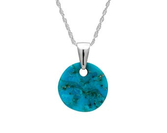 Turquoise Necklace With Sterling Silver Bail, Custom Turquoise Jewelry