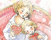 Hearts and Love Tea Party         -       Mother and Child Print