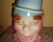 Fun & Funky Vintage Kitschy Ungemach Pottery American Bisque Pinky Lee Cookie Jar