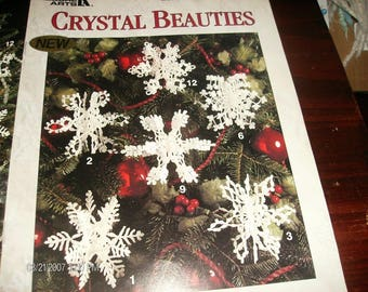 Christmas Crochet Crystal Beauties Leisure Arts 2538 Crochet Pattern Leaflet Anne Halliday