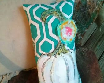 Fall 2017 Preview Sassy Pumpkin Pillow Hand Painted YelliKelli Ready to Ship