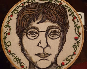 "8"" John Lennon Embroidered Wall Hanging"