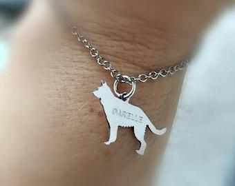 silver bracelet with sterling silver dog, sterling silver, animal, designer, nature, men,doggi, silver chain , man, cat