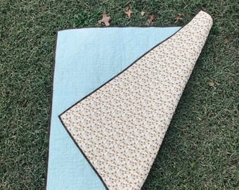 Modern Wholecloth Baby Quilt