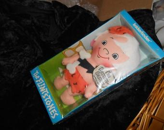 Vintage Flintstones BAMM-BAMM Doll by Knickerbocker-MIB-