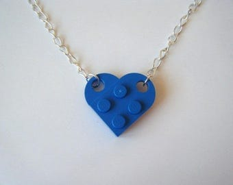 Blue ♥ ♥ lego Heart Necklace