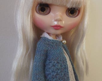 BLYTHE CARDIGAN/TOP, Blythe outfit, Blythe clothes, Blythe knitted top/Neo Blythe doll