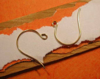 French Hook Ear Wires from Nunn Design in Antique Gold - 12 Count