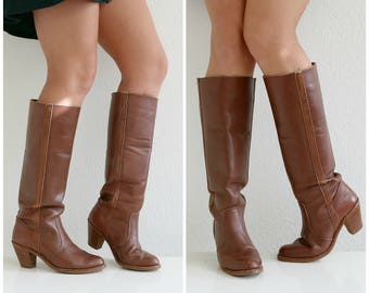 1970s Dexter Russet Boots // Size 6 to 6-1/2 (6.5)