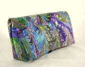 Coupon Organizer Holder,Marbled Floral Fabric, Ready to Ship