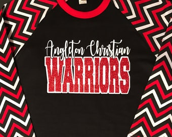 Chevron Raglan School Spirit Shirt