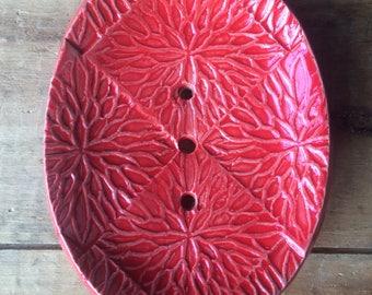 Bright Red Soap Dish