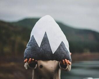 Custom 1- Light Gray & 1 - Sea Foam/Mint Mountain Pillows for Audra
