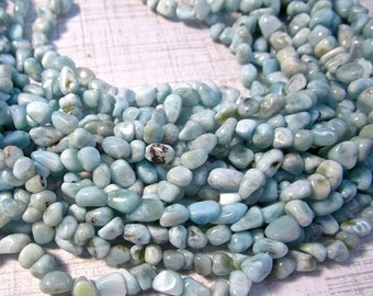 SALE Out Of TOWN Natural Larimar Beads 4mm 5mm 6mm Nugget, Natural Blue Gemstone Small Size, 16 Inches