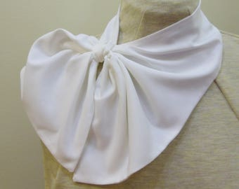 """Solid color polyester  """"no-knot"""" scarf - trach stoma cover"""
