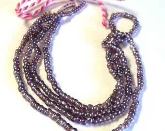 "2 Strands Amethyst Luster Seed Beads, 14"" Strands Purple Glass Beads, DIY Jewelry supplies"