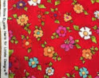 2 1/4 yards of Loralie Designs Happy Blooms