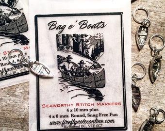 Boat stitch markers
