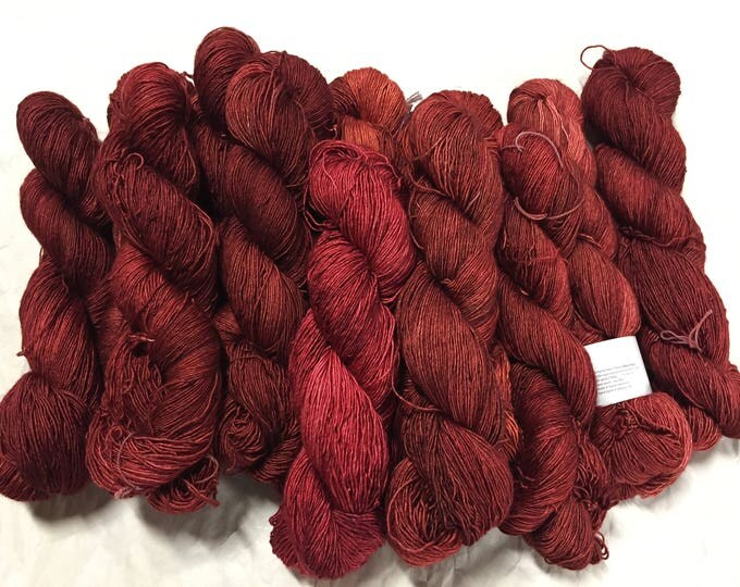 "SALE silky single ""brick red"" potluck"