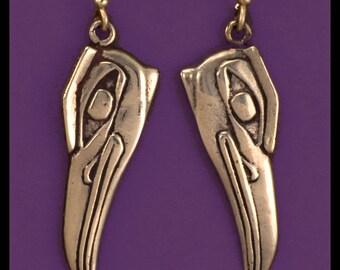 KINGFISHER- Earrings- Bronze