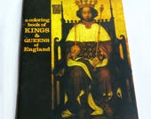 Kings & Queens of England Coloring Book, 1978, Bellerophon Books. Ilustrated by Donna Neary