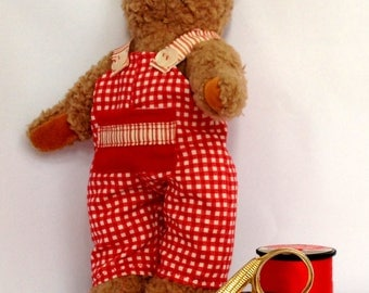 Outfit for Doll or Teddy - 8 - 10 inches Tall   Toy sewing Instant Download PDF Pattern Prints on A4 and Letter Pages. Fat Quarter Project