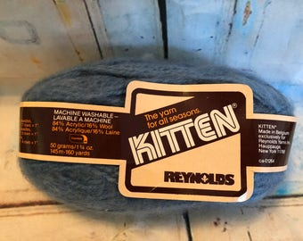 Reynolds Blue Kitten Yarn 160 Yards