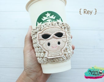 Neutral Coffee Cup Cozy { Rey } stars wars, the last jedi, cream, cup holder, coffee sleeve, hot cocoa, mug sweater, tea cup, planner girl