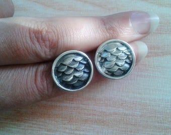 Mermaid Scales Jewelry - Mermaid Scales Sterling Silver Earrings - Dragon Scales Jewelry - Dragon Scales Sterling Silver Earrings - Scales