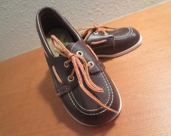 Vtg 70s toddler boy loafers | childrens Top Siders / Step & Stride deck shoes / Made in USA