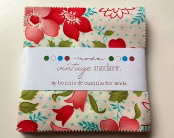 LAST ONE.  Vintage Modern Charm pack by Bonnie and Camille for Moda
