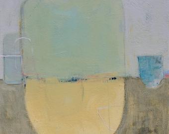 Abstract Landscape Painting, Modern Contemporary Painting, Original 18x18 Painting - West Elm artist, Coastal Decor, Wall Decor, Beach Decor