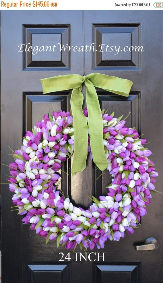 SUMMER WREATH SALE 24 inch Spring Wreath- Spring Wreath- Door Wreath 24 inch- Lavender Wreath