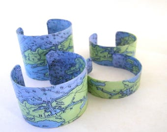North Haven Island  Maine cuff bracelet - choice of one - Fox Islands - Penobscot Bay - Knox County