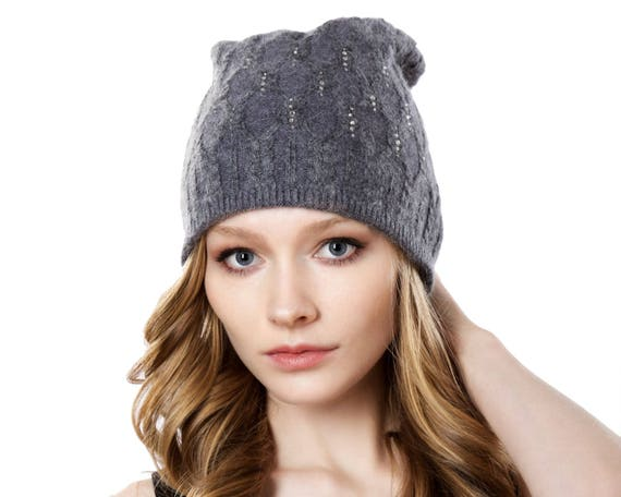 Winter Hat Knit Beanie Slouchy Beanie Fall Fashion Cashmere Wool Winter Accessories Warm Hat Cable Knit Hat Boho Chic Grunge Beanie Gift
