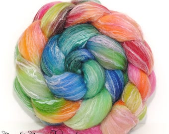 CABO - Seawool Merino Seacell Hand Dyed Wool Roving Combed Top Spinning Felting Weaving - 4.3 oz