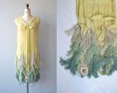 Neptune's Muse dress | 1920s silk beaded dress | silk fringe and beaded vintage 20s dress