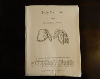 Truly Victorian Ladies 1872 Side Drape Overskirt Pattern: TV303, 15% OFF!!!