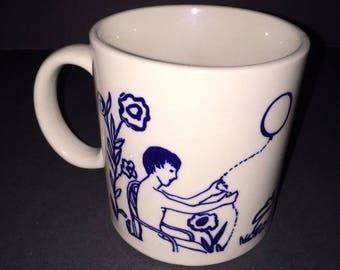 Vintage 70s Taylor & Ng Childhood Dreams Horse Coffee Mug Tea Cup