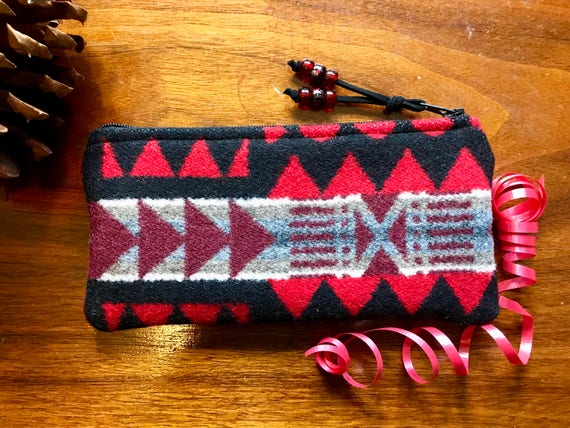 Wool Glasses  Case / Tampon Case / Zippered Pouch