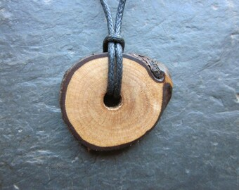Rare Natural Wood Pendant - Wild Rose - Enhances Psychic Power.