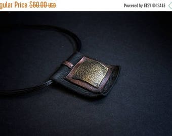 40% OFF SALE Stylish leather necklace Pendant Designer jewelry Elegant statement necklace Geometric jewelry
