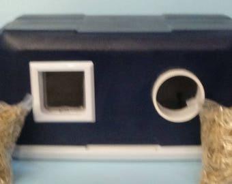 Heated Cat Pod House 2 Doors
